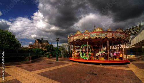 Les Halles' Merry-go-round, Paris, France