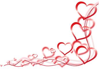 Herzen quer rot