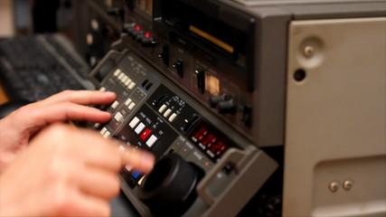 Editor working on Betacam Sp
