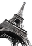 Fototapety Famous Eiffel Tower of Paris isolated on white