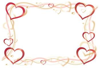 Herzen Rahmen bunt