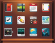 Mobile devices apps/services icons. Part 4 of 12