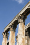 Greek corinthian capitals topped by lintel - Olympeion Athens