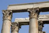 Athens - corinthian capitals - Ruins of Olympian Zeus Temple poster