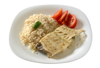 boiled codfish with rice