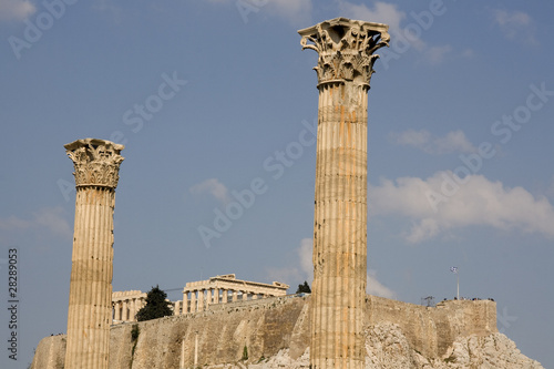 Olympian Zeus Temple, Athens. It is located on south Acropolis