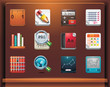 Educational. Mobile devices apps/services icons. Part 12 of 12