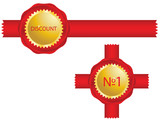 Special red ribbon for your business poster