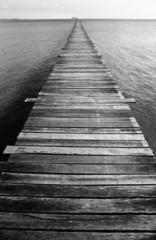 Black and White Ocean Pier