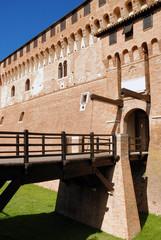 wooden bridge to enter the castle