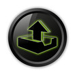 "Black Icon (Green Outlines) ""Upload"""