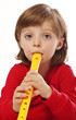 little girl with  flute