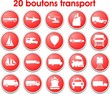 boutons transport