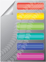 multicolored stickers - vector
