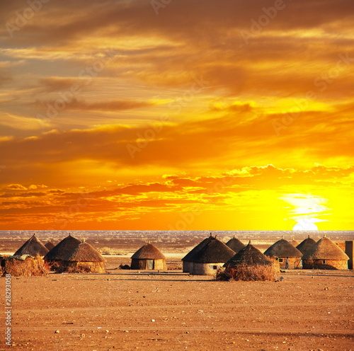 fototapeta na ścianę African wieś
