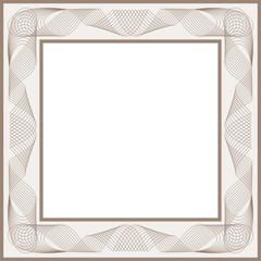 Guilloche vector frame