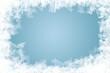Leinwanddruck Bild - natürlich gewachsene Eiskristalle