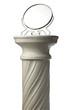 Leinwanddruck Bild - mirror and Single greek column isolated on white