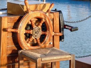timone di una barca