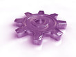 Chrom Zahnrad lila hell