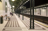 Vienna metro station in the night
