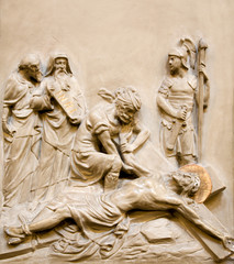 Relief of Jesus Christ on the cross from Vienna church