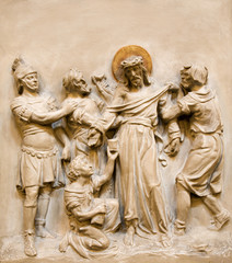 Relief of Jesus Christ on the cross-way from Vienna church