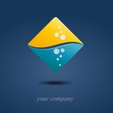 Logo rhombus under sea ( vector ) poster