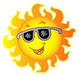 Fototapety Happy Sun with sunglasses