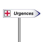 panneau urgences poster
