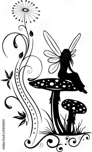 Fee, Elfe, Pilz, Fliegenpilz, flora, Blumen, Wiese, Zauber - 28306051