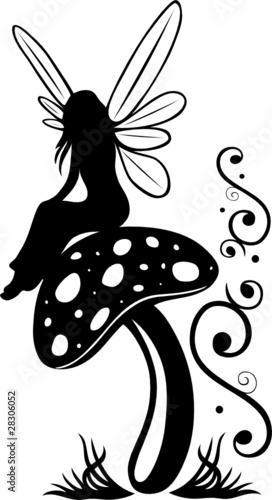Fee, Elfe, Pilz, Fliegenpilz, flora, Blumen, Wiese, Zauber