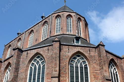 The back of the Martini Church in Groningen in the Netherlands