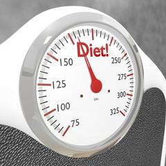 Diet bathroom scale