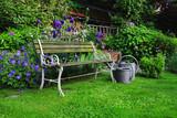 Fototapety Historic Garden Bench, germany