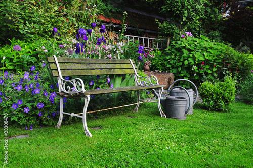 Historic Garden Bench, germany