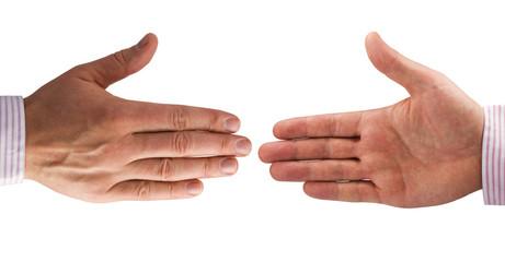 Handshake of businessmen. isolated on white background