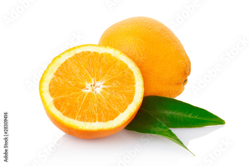 Orange fruit with clipping path