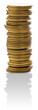 Stack of golden coins.