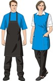 The man and the woman in an apron poster