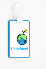 isolated luggage name tag