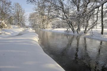 Winter by river Nyboån,Sweden
