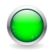 GREEN WEB BUTTON (template blank internet go green round glassy)