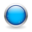 BLUE WEB BUTTON (template internet blue blank go click here)