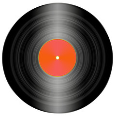 simple illustration of a vinyl record