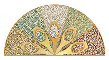 Kolaż suszonych soczewica, groch, soja, fasola z łyżką