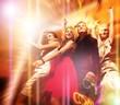 People dancing in the night club ..