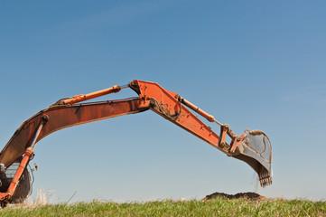 Hydraulic Excavator Arm and Bucket