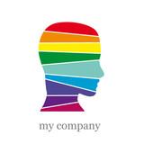 Logo man in the rainbow. Mummy # vector