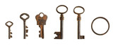 set of vintage keys